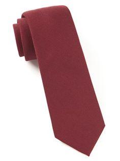 SOLID WOOL TIES - BURGUNDY | Ties, Bow Ties, and Pocket Squares | The Tie Bar