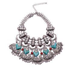 2015 newest design hot fashion jewelry chunky vintage statement necklace bohemian pearls beads tassel pendant jewelry XG870