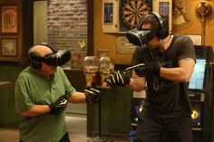 'Always Sunny...' VR throws you and Mac to crashing 'safety' - CNET Project Badass is back on Its Always Sunny in Philadelphia but this time its virtual. In his latest err feat of badassery Mac (played by Rob McElhenney) fires his motorbike down a smoke-bombed runway to plummet to the safety of the crashing ocean 100 feet below. Thanks to virtual reality we the viewers are along for the ride. Lucky us. (Theres also a woman stripping because Frank.) On tonights episode of Its Always Sunny…