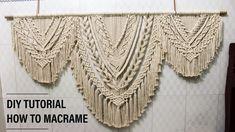 DIY Large Macrame Wall Hanging, Basic Knots Step by Step tutorial. Best Picture For macrame wall h Macrame Wall Hanging Patterns, Large Macrame Wall Hanging, Macrame Patterns, Diy Hanging, Macrame Design, Macrame Art, Macrame Projects, Modern Macrame, Macrame Tutorial