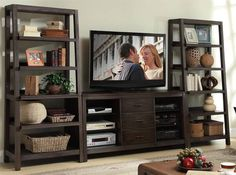tv stand with bookcases - Google Search
