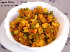 This colourful, healthy and delicious vegetable mixture works beatifully as a filling for veggie samosas, buns and sandwiches. Veg Recipes, Potato Recipes, Indian Food Recipes, Asian Recipes, Dinner Recipes, Cooking Recipes, Ethnic Recipes, Recipies, Skinny Recipes