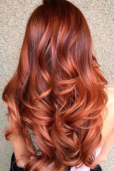 33 hottest copper balayage ideas for 2017 beauty hair color Ombre Hair Color, Hair Color Balayage, Cool Hair Color, Hair Highlights, Copper Highlights, Red Ombre, Copper Balayage Brunette, Ombre Brown, Summer Hairstyles