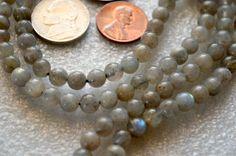 Labradorite Handmade Mala Beads Necklace - Blessed Energized Karma Nirvana Meditation 6 mm 108 Prayer Beads For Awakening Chakra Kundalini
