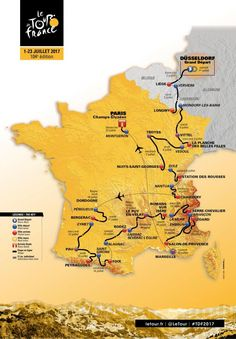 The 2017 Tour de France route map