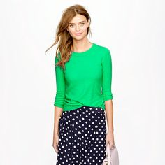 J.Crew Pleated skirt in polka-dot crepe | Style Fashion ...