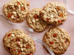 """Marcela Valladolid's White Chocolate-Apricot-Oatmeal Cookies : """"My mom loved white chocolate and apricots, so I decided to develop a recipe for the holidays that reminded me of her when she passed. It is one of those recipes that is very comforting,"""" says The Kitchen co-host Marcela."""