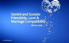 Gemini and Scorpio Compatibility for Love Marriage Friendship Gemini And Scorpio Compatibility, Zodiac Signs Scorpio, Scorpio Men, November 20 Zodiac, October, After Marriage, Love And Marriage, Scorpio Love Match, Women Friendship