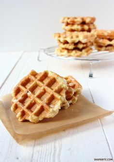 The other Belgian Waffle | Snap a Bite authentic recipe. Need to google pearl sugar....