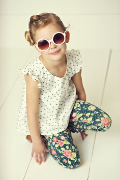 Hello, Lovely! Spring 2015: Miss Matilda Top and Party Pants Leggings