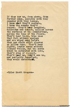 Typewriter Series #1762 by Tyler Knott Gregson Stay tuned for a huge announcement in a few hours!