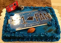 Carolina panther need to do this for Hunts birthday cake