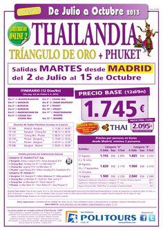THAILANDIA Triangulo de Oro+Phuket, sal. 2/07 al 15/10 desde Madrid (12d/9n) p.f. 2.095€ - http://zocotours.com/thailandia-triangulo-de-orophuket-sal-207-al-1510-desde-madrid-12d9n-p-f-2-095e-9/