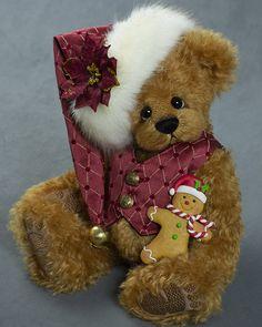 Jordan Lee - about 13 inches - German Alpaca. #artistbear #artistbears #teddybear #christmas #vickylougher Toy Corner, Teddybear, Plushies, Bears, German, Toys, Sweet, Artist, Christmas