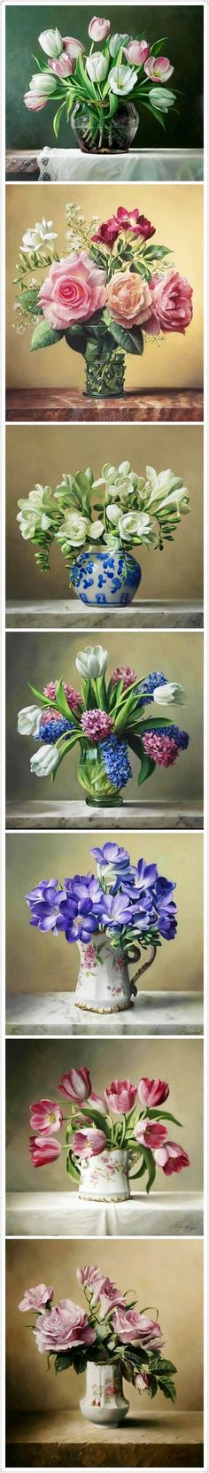 By Pieter Wageman, multiple paintings/still life...inspiration for Wall Art/home decor, Gifts, and floral arrangements for events/celebrations/weddings.