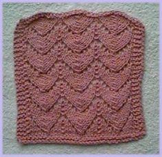 Free Knitting Pattern - Dishcloths & Washcloths : Horseshoe Pattern Dishcloth