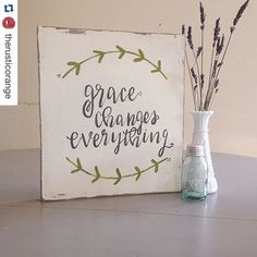 decor steals instagram photo - #Repost @therusticorange @decorsteals ・・・ I made this sign as a reminder to live In the Grace God has shown me!!  so, much freedom comes from His grace!! #handlettered #handpainted https://instagram.com/p/5SPzCDETr8/ via bHome https://bhome.us
