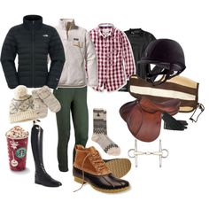 A fashion look from January 2014 featuring polka dot tops, zipper top and The North Face. Browse and shop related looks. Horse Riding Boots, Horse Riding Tips, Horse Riding Clothes, Horse Gear, Women's Equestrian, Equestrian Outfits, Horseback Riding Outfits, Horse Story, Teenager Outfits