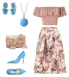 """""""Untitled #87"""" by kamishiro-rize on Polyvore featuring Ted Baker, Miss Selfridge, Christian Dior, Oscar de la Renta, Napier and Marby & Elm"""