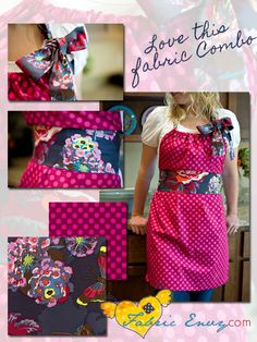 Free Apron Tutorial from Amy ♥'s it, featured on Fabric Envy