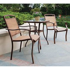 Mainstays Sand Dune 3 Piece Outdoor Bistro Set Seats 2 I Want This