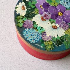 russian art handcrafted traditional classic home decor painted flower wooden box