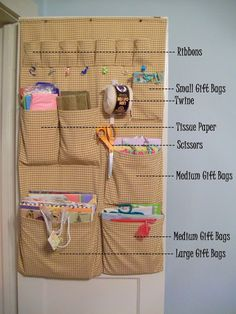 Cottage Hill: Practical Matters -- Gift Bag Organizer