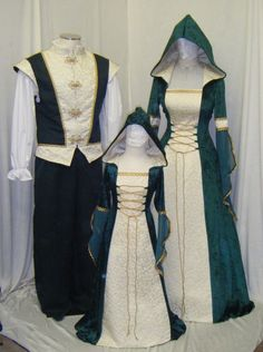 medieval handfasting renaissance Celtic dress door camelotcostumes, £168.89