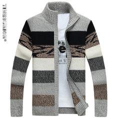 Men's Knitted Sweaters Cardigans Collar Winter Wool Sweater Fashion Cardigans Male Sweaters Coat Brand Men's Clothing Male Sweaters, Winter Sweaters, Wool Sweaters, Knitting Sweaters, Winter Hats, Mens Knit Sweater, Sweater Coats, Long Sleeve Sweater, Herren Winter