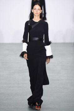 Asymmetric harness by Antonio Berardi Spring 2017 Ready-to-Wear Fashion Show