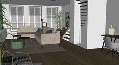 Interieurontwerp nieuwbouwwoning Arnhem door Lenny Combé Design Divider, Doors, Interior Design, Furniture, Home Decor, Nest Design, Decoration Home, Home Interior Design, Room Decor