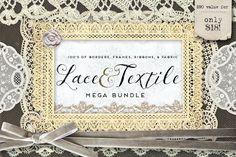 Lace & Textile Mega Bundle by Eclectic Anthology on @Graphicsauthor