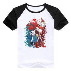 Game Undertale T-Shirt Undertale sans and papyrus Top Tees Teens Shirt skulll brother anime geek T shirt men cotton clothing