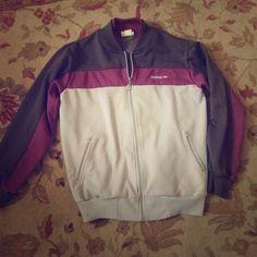 Vintage Adidas Zipper Jacket awesome gray, charcoal, and purple zip up sweater jacket. vintage 80s adidas! Adidas Jackets & Coats