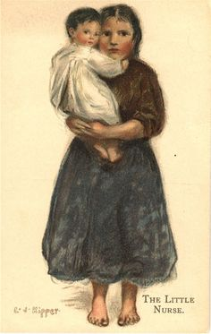 The Little Nurse, ca. 1910. Pictures of Nursing: The Zwerdling Postcard Collection. National Library of Medicine