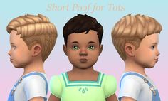 Lana CC Finds - Short Poof for Tots