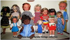 Διάφορες παλιές κούκλες, απο διάφορες δεκαετίες.