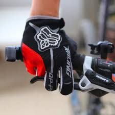 BOODUN Cycling Gloves Shock-absorbing Foam Pad Breathable Half Finger Leopard