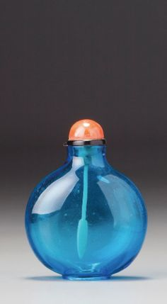 A PEACOCK-BLUE GLASS SNUFF BOTTLE<br>ATTRIBUTED TO THE IMPERIAL PALACEGLASSWORKS, QING DYNASTY, 18TH CENTURY | lot | Sotheby's