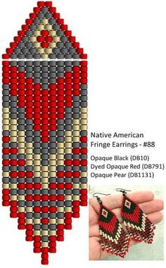 Best Seed Bead Jewelry 2017 Schema from pinner for celebration Brick Stitch earrings Seed Bead Tutorials Source by vildandikmenBeaded beads tutorials and patterns, beaded jewelry patterns, wzory bizuterii koralikowej, bizuteria z koralikow - wzory i Beaded Earrings Native, Beaded Earrings Patterns, Seed Bead Patterns, Diy Earrings, Beaded Bracelets, Fringe Earrings, Hoop Earrings, Cream Earrings, Native Beading Patterns