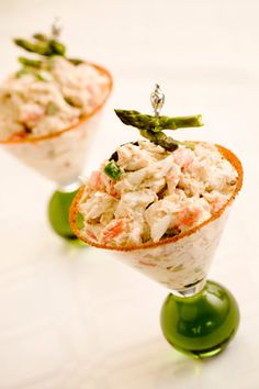 Crab Martini...Delicious! Wash this down with Sauvignon Blanc, Brut Sparkling Wine, or a glass of Chardonnay,