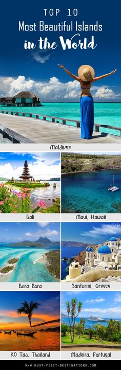 Top 10 most beautiful Islands in the World #travel. Need to visit all!