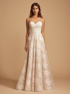 cb0d3a6833d87 Style 7851 Phillipa Style 7851 Phillipa Ti Adora by Allison Webb bridal gown  - Ivory / Cashmere lace and English net A-line bridal gown.