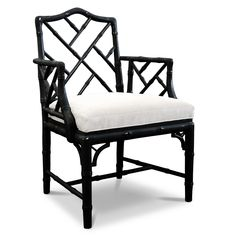 Jonathan Adler Hollywood Regency Chinoise Faux Bamboo Chippendale Armchair