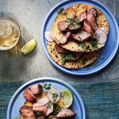 Grilled Flank Steak with Chipotle-Orange Mojo | CookingLight.com #myplate #protein #fruit #wholegrain