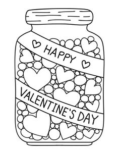 Candy Hearts Coloring Page | Stuff I want to make | Heart ...