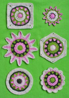 6 MOTIFS  crochet pattern PDF by CAROcreated on Etsy, €2.50