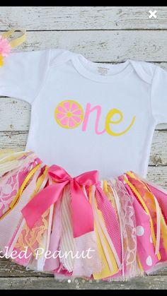 Pink lemonade birthday First birthday onesie