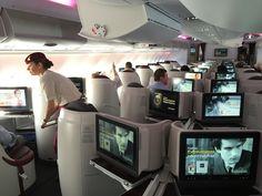 Qatar Airways A380 Business Class Cabin http://www.tipsfortravellers.com/qatar-airways-a380-photos/ #qatarairways #QatarA380