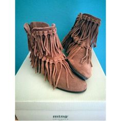 Fringe Mustang leather boots